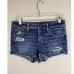 American Eagle Blue Jean Shorts Sz 8